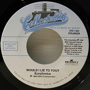 レコード画像:EURYTHMICS / WOULD I LIE TO YOU?
