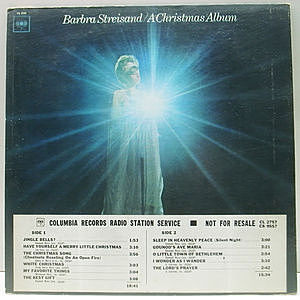 レコード画像:BARBRA STREISAND / A Christmas Album