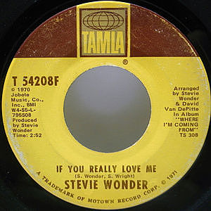 レコード画像:STEVIE WONDER / If You Really Love Me / Think Of Me As Your Soldier