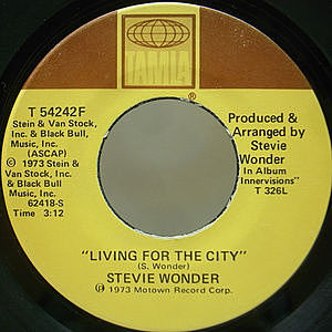レコード画像:STEVIE WONDER / Living For The City / Visions