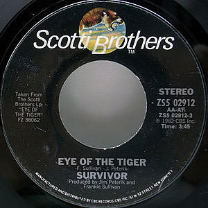 レコード画像:SURVIVOR / Eye Of The Tiger