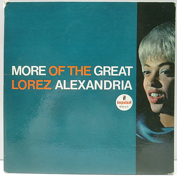 レコードメイン画像:MONO VANGELDER刻印 1st橙ツヤ USオリジナル LOREZ ALEXANDRIA More Of The Great ~ ('64 Impulse A-76) Wynton Kelly, Jimmy Cobb ほか