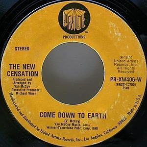 レコード画像:NEW CENSATION / Come Down To Earth / I've Got Nothin' But Time