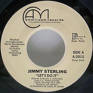 レコード画像:JIMMY STERLING / Let's Do It