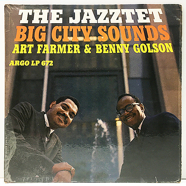 レコードメイン画像:白プロモ MONO 深溝 USオリジナル ART FARMER & BENNY GOLSON『THE JAZZTET』Big City Sounds ('60 Argo LP 672) Cedar Walton ほか