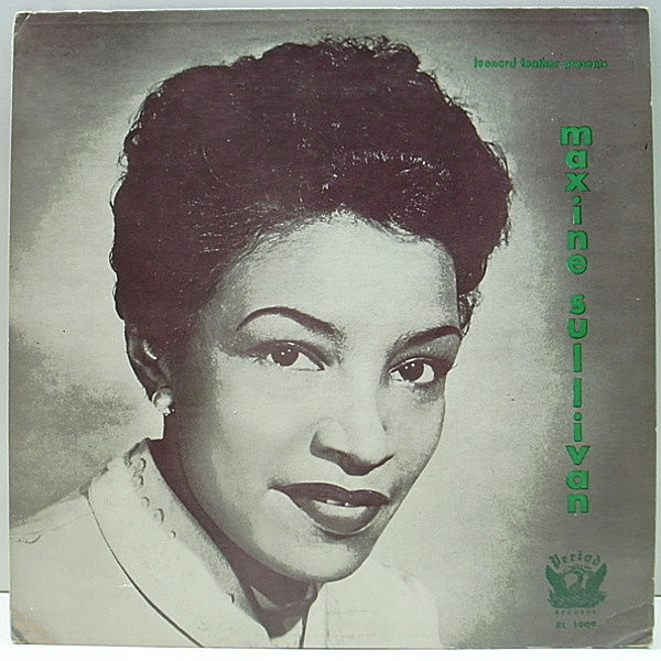 レコードメイン画像:《レア・入手難》FLAT MONO オリジナル MAXINE SULLIVAN Leonard Feather Presents 1956 (Period RL 1909) Charlie Shavers, Milt Hinton