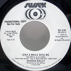 レコード画像:SHARON RIDLEY / Stay A While With Me