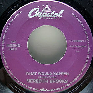 レコード画像:MEREDITH BROOKS / What Would Happen