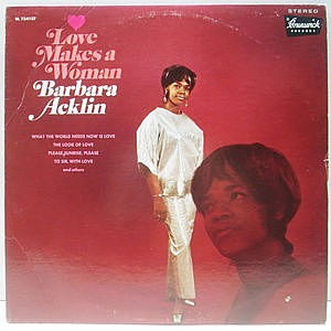 レコード画像:BARBARA ACKLIN / Love Makes A Woman