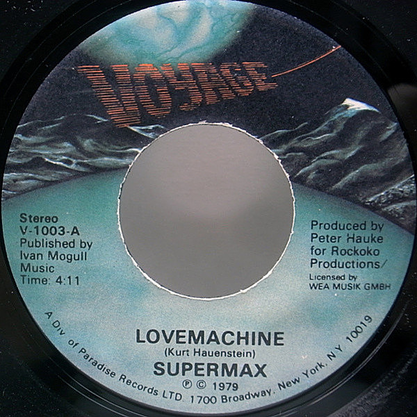 "レコードメイン画像:美盤7""!! USオリジナル SUPERMAX Lovemachine ('79 Voyage) DEEP MELLOW GROOVE スーパー・マックス c/w Push Push (Sexy Chocolate Girl)"