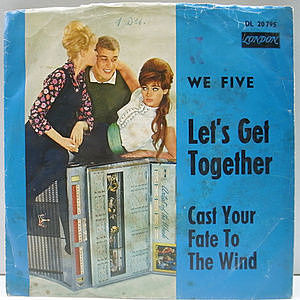 レコード画像:WE FIVE / Let's Get Together / Cast Your Fate To The Wind