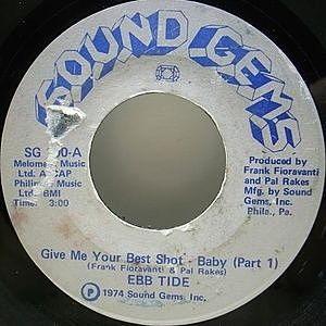 レコード画像:EBB TIDE / Give Me Your Best Shot - Baby