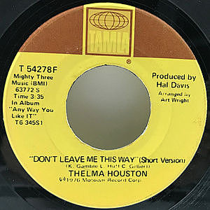 レコード画像:THELMA HOUSTON / Don't Leave Me This Way