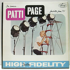 レコード画像:PATTI PAGE / On Camera…Patti Page…Favorites From TV
