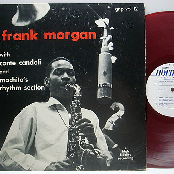 レコードメイン画像:良品!! FLAT 赤盤 GNP Orig. FRANK MORGAN / Gene Norman vol.12