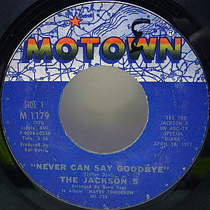 レコード画像:JACKSON 5 / Never Can Say Goodbye / She's Good