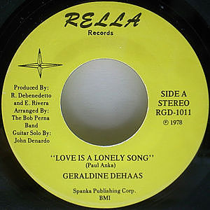 レコード画像:GERALDINE DEHAAS / Love Is A Lonely Song / While We're Still Young