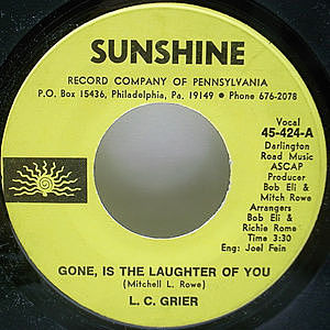 レコード画像:L.C. GRIER / Gone, Is The Laughter Of You
