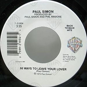 レコード画像:PAUL SIMON / 50 Ways To Leave Your Lover / Still Crazy After All These Years