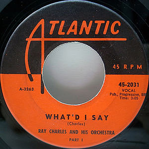 レコード画像:RAY CHARLES / What'd I Say