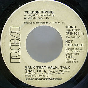 レコード画像:WELDON IRVINE / Walk That Walk; Talk That Talk