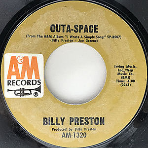 レコード画像:BILLY PRESTON / Outa-Space / I Wrote A Simple Song