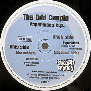 レコード画像:ODD COUPLE / Paperkites