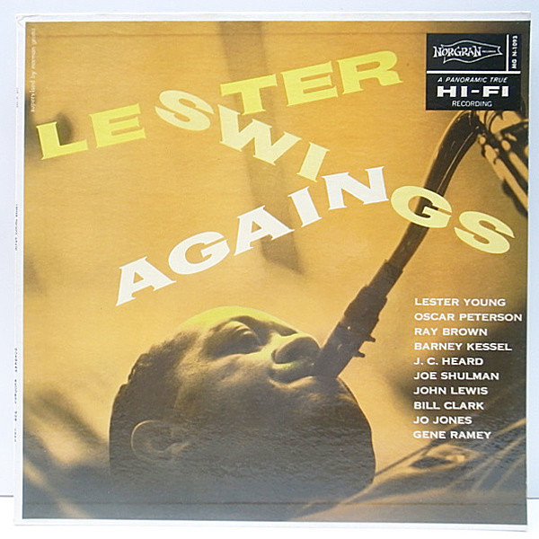 レコードメイン画像:美品 Norgran 深溝 MONO LESTER YOUNG Lester Swings Again (Norgran MGN 1093) The President | Oscar Peterson, Barney Kessel ほか