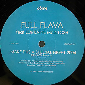 レコード画像:FULL FLAVA / LORRAINE MCINTOSH / Make This A Special Night 2004