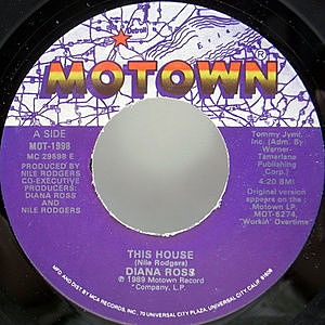 レコード画像:DIANA ROSS / This House / Paradise