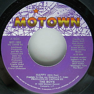 レコード画像:BOYS / Happy (With Rap)