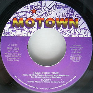 レコード画像:TODAY / Take Your Time / You Stood Me Up