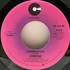 レコード画像:CERRONE / Supernature / Sweet Drums