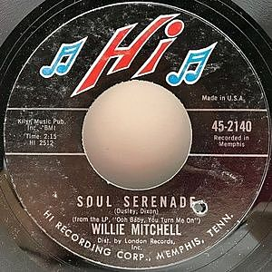 レコード画像:WILLIE MITCHELL / Soul Serenade / Mercy Mercy Mercy