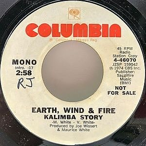レコード画像:EARTH WIND & FIRE / Kalimba Story