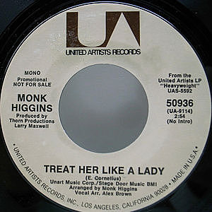 レコード画像:MONK HIGGINS / Treat Her Like A Lady