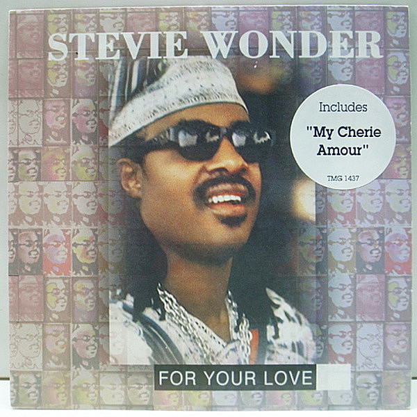 レコードメイン画像:P.S付き 美品 UK 7インチ STEVIE WONDER For Your Love / My Cherie Amour ('95 Motown) LOVERS SOUL R&B 名曲