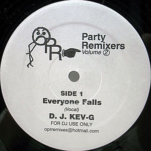 レコード画像:D.J. KEV-G / PARTY REMIXERS VOLUME 2 - EVERYONE FALLS