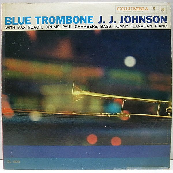 レコードメイン画像:良盤!! 6eye 深溝 MONO オリジナル J.J. JOHNSON Blue Trombone ('57 Columbia) TOMMY FLANAGAN, PAUL CHAMBERS, MAX ROACH