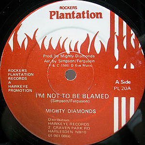 レコード画像:MIGHTY DIAMONDS / JUNIOR BRAMMER / I'm Not To Be Blamed / I Wanna Love You