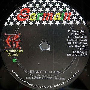 レコード画像:TAMLINS / DEAN FRASER / Ready To Learn