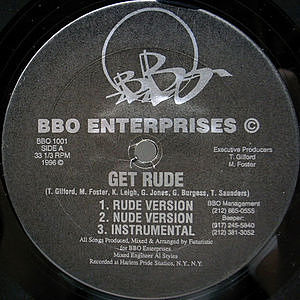 レコード画像:BBO ENTERPRISES / Get Rude
