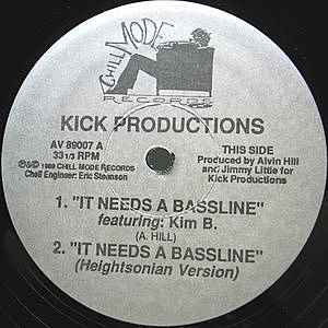 レコード画像:KICK PRODUCTIONS / It Needs A Bassline / The Way You Use Me