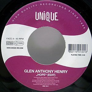 レコード画像:GLEN ANTHONY HENRY / Hope