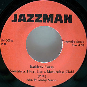 レコード画像:KATHLEEN EMERY / Sometimes I Feel Like A Motherless Child / Evil Ways