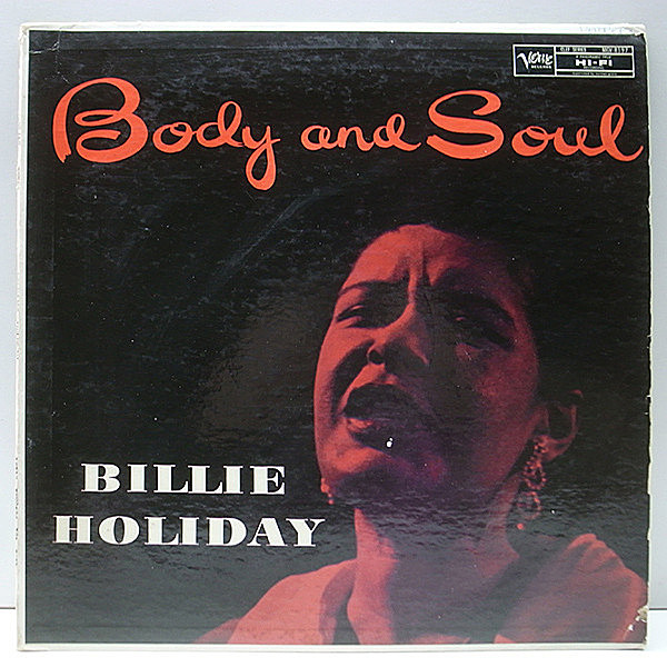 レコードメイン画像:MONO トランペッター 深溝 USオリジナル BILLIE HOLIDAY Body And Soul ('57 Verve) Harry Sweets Edison, Ben Webster, Jimmy Rowles ほか