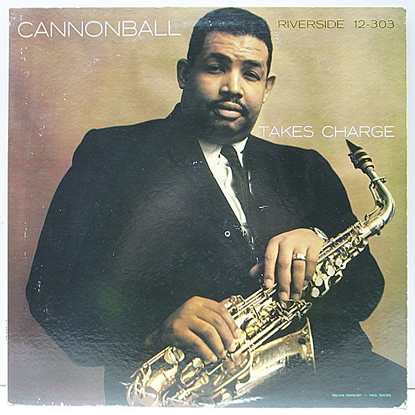 レコードメイン画像:美盤!! MONO 深溝 CANNONBALL ADDERLEY Takes Charge (Riverside RLP 12-303) 意外に少ないワンホーン編成!WYNTON KELLY, PAUL CHAMBERS