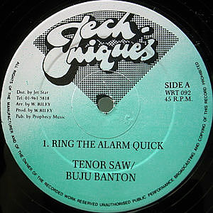 レコード画像:TENOR SAW / BUJU BANTON / Ring The Alarm Quick