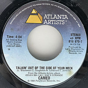 レコード画像:CAMEO / Talkin' Out The Side Of Your Neck