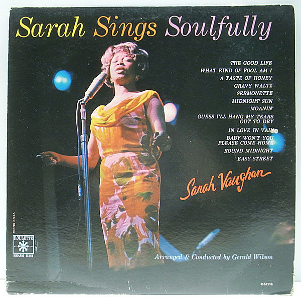 レコードメイン画像:【Roulette時代の佳作】MONO USオリジナル SARAH VAUGHAN Sarah Sings Soulfully (R 52116) CARMELL JONES, TEDDY EDWARDS ほか